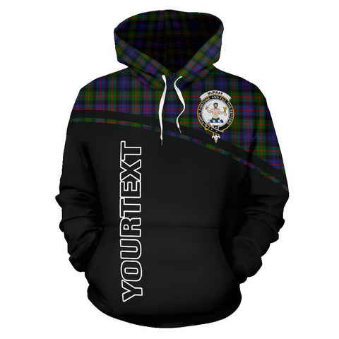 Murray of Atholl Tartan Custom Personalised Hoodie - Curve Style Front