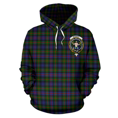 Tartan Clan Murray Of Atholl Plaid Hoodie With Crest