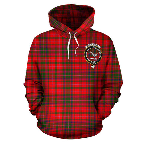 Tartan Clan Macdougall Plaid Hoodie With Crest
