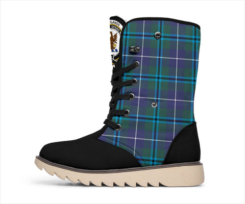 Image of Tartan Women's Snow Boots - Clan Sandilands Boots - BN