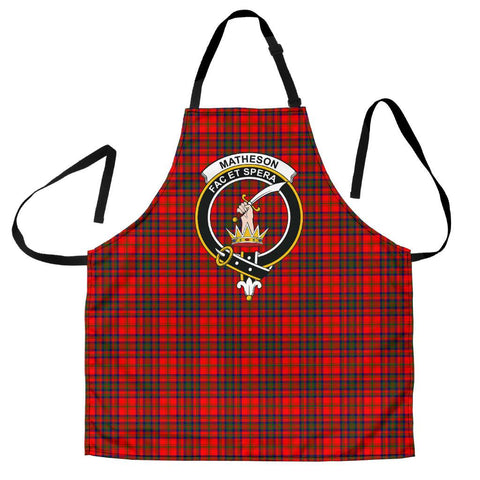 Image of Tartan Apron - Matheson Modern Apron With Clan Crest HJ4