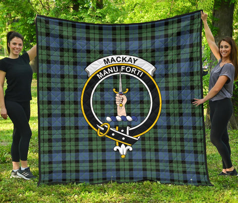 Image of Premium Quilt - MacKay Ancient Tartan Quilt - Clan Crest TH8