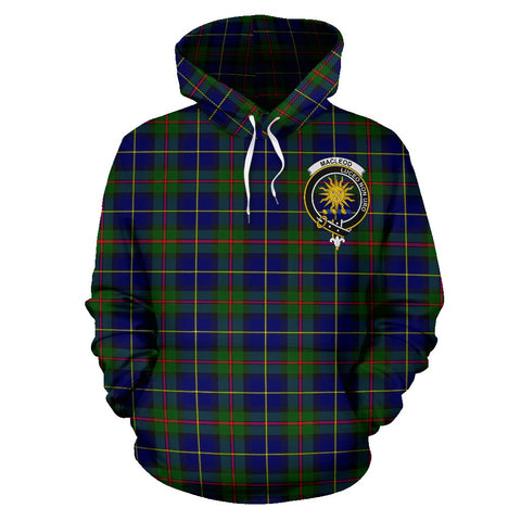 Tartan Clan Macleod Plaid Hoodie With Crest
