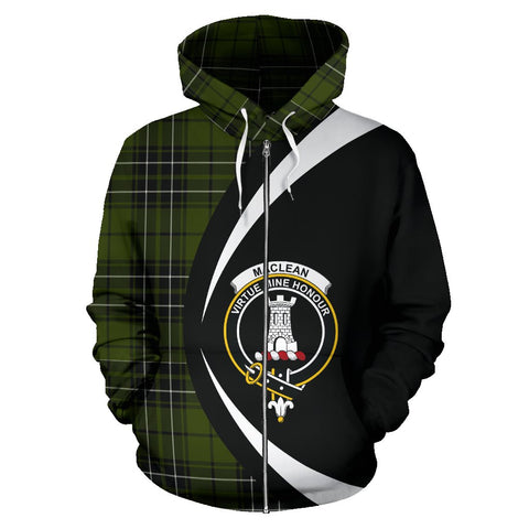 Image of Tartan Zip Up Hoodie - Clan Maclean Hunting Zip Up Hoodie - Circle Style Unisex