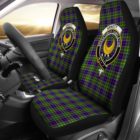 ScottishShop Seat Cover - Tartan Crest Arnott Car Seat Cover Clan Badge - Universal Fit