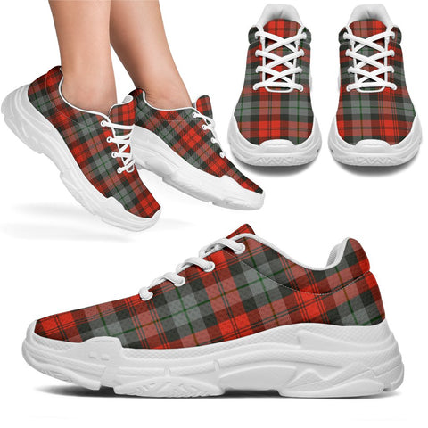 Image of Chunky Sneakers - Tartan MacLachlan Weathered Shoes