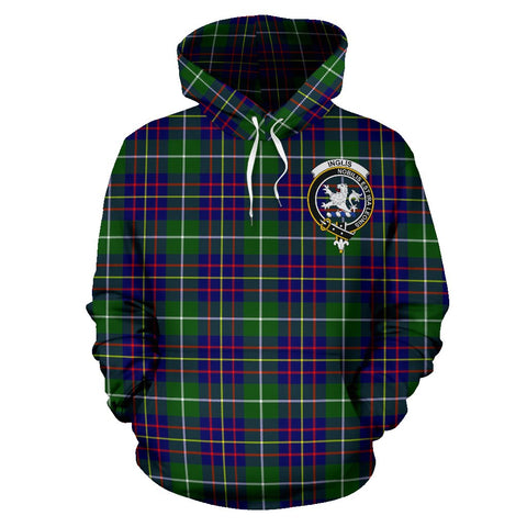 Tartan Clan Inglis Plaid Hoodie With Crest