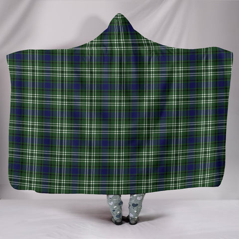 Image of Blyth, hooded blanket, tartan hooded blanket, Scots Tartan, Merry Christmas, cyber Monday, xmas, snow hooded blanket, Scotland tartan, woven blanket