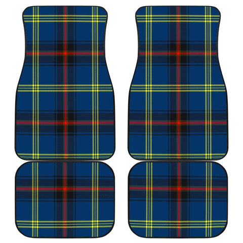 Car Floor Mats - Clan Grewar Plaid Tartan Car Mats - 4 Pieces