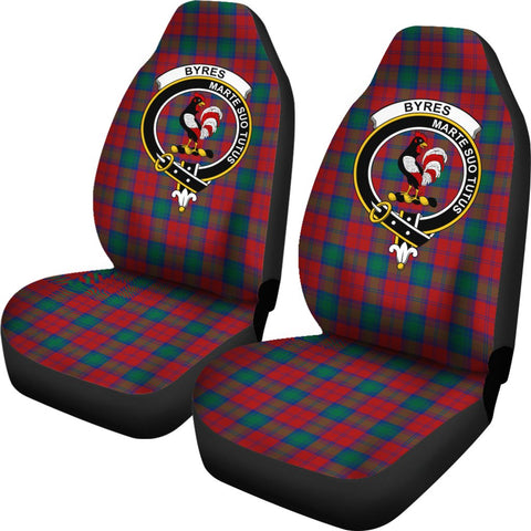 Byres Tartan Car Seat Covers Clan Badge