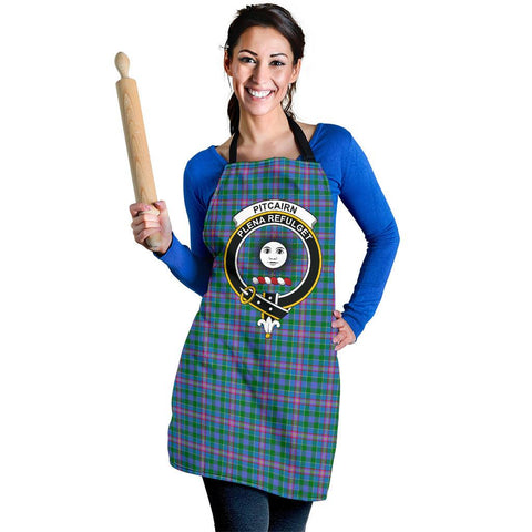 Image of Tartan Apron - Pitcairn Hunting Apron With Clan Crest HJ4
