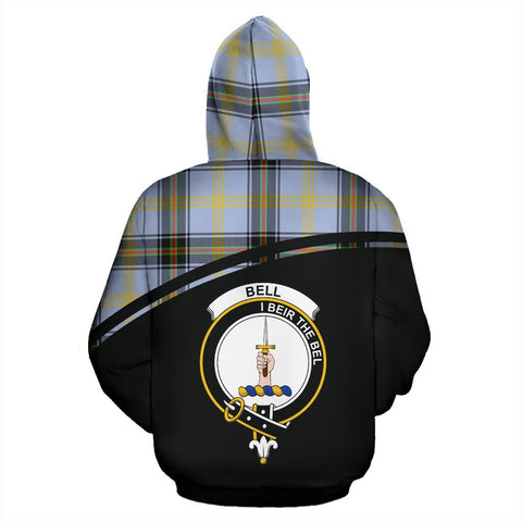 Image of Bell Tartan Custom Personalised Hoodie - Curve Style Back