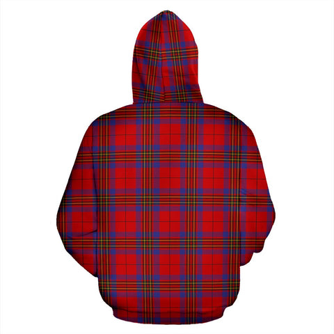 Image of Leslie Tartan Clan Badge Hoodie HJ4