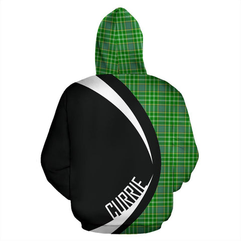 Image of Tartan Zip Up Hoodie - Clan Currie Zip Up Hoodie - Circle Style Unisex