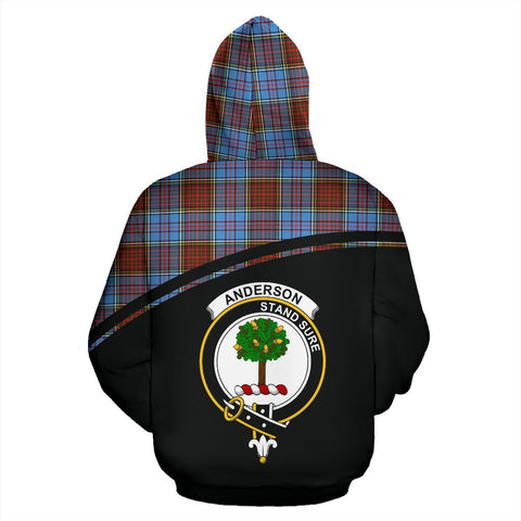 Image of Anderson Tartan Custom Personalised Hoodie - Curve Style Back