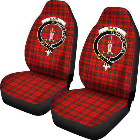 Bain Tartan Car Seat Covers Clan Badge