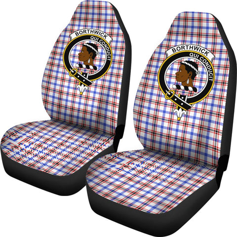 Borthwick Tartan Car Seat Covers Clan Badge