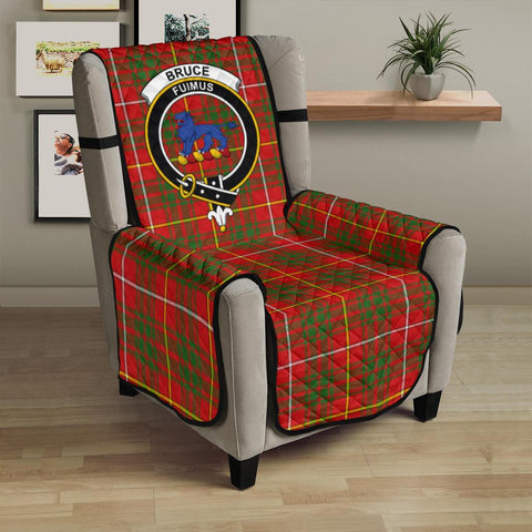 Clan Bruce Modern Plaid & Crest Tartan Sofa Protector - 23 Inches