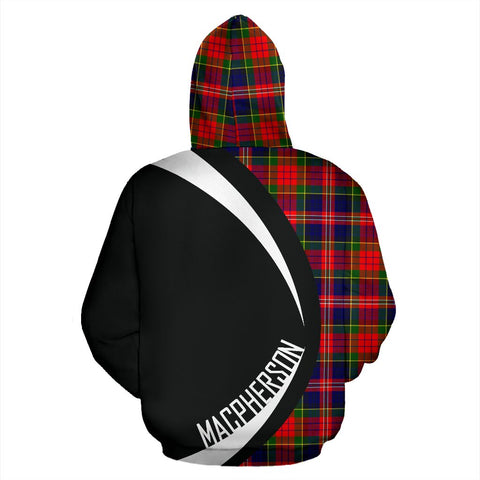 Image of Tartan Zip Up Hoodie - Clan Macpherson Modern Zip Up Hoodie - Circle Style Unisex