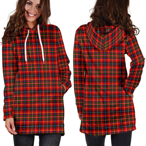 ScottishShop Hoodie Dress - Innes Modern  Tartan Hooded Dress