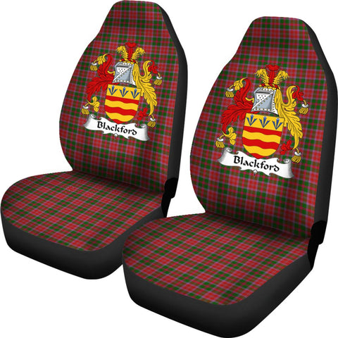Blackford Tartan Car Seat Covers Clan Badge