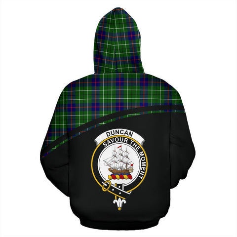 Image of Duncan Tartan Custom Personalised Hoodie - Curve Style Back