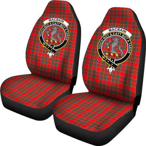 Macbean Tartan Car Seat Covers Clan Badge