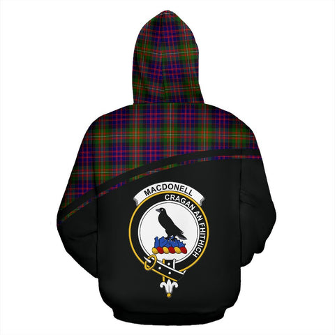 MacDonell of Glengarry Tartan Custom Personalised Hoodie - Curve Style Back