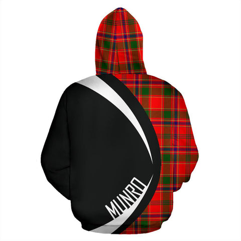 Image of ScottishShop Tartan Zip Up Hoodie - Clan Munro Modern Hoodie - Circle Style
