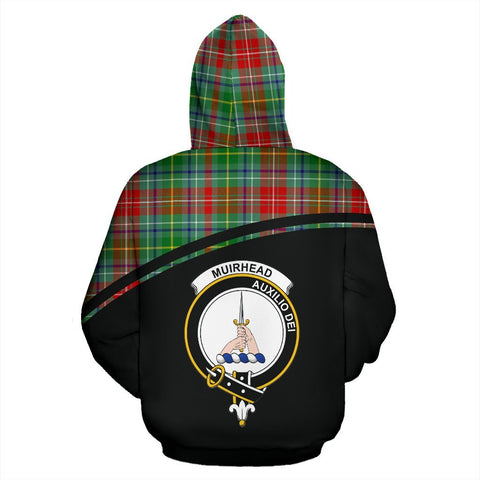 Image of Muirhead Tartan Custom Personalised Hoodie - Curve Style Back