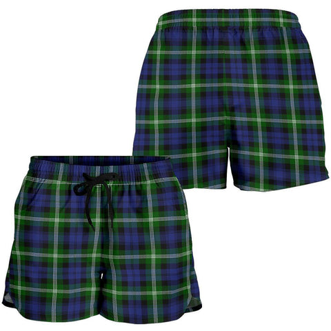 Image of Baillie Modern Tartan Shorts For Women Th8