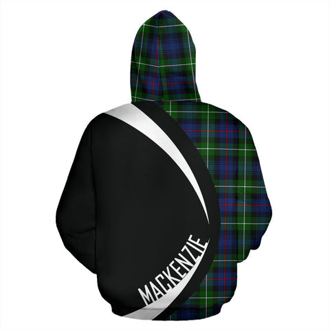 Image of ScottishShop Tartan Zip Up Hoodie - Clan Mackenzie Hoodie - Circle Style