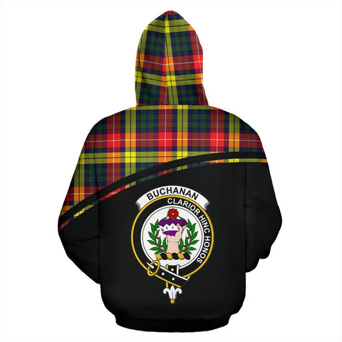 Buchanan Tartan Custom Personalised Hoodie - Curve Style Back