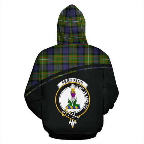 Image of Ferguson Tartan Custom Personalised Hoodie - Curve Style Back