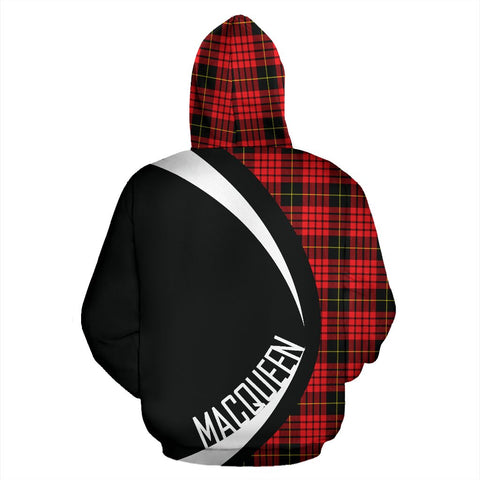 Image of Tartan Zip Up Hoodie - Clan Macqueen Modern Zip Up Hoodie - Circle Style Unisex
