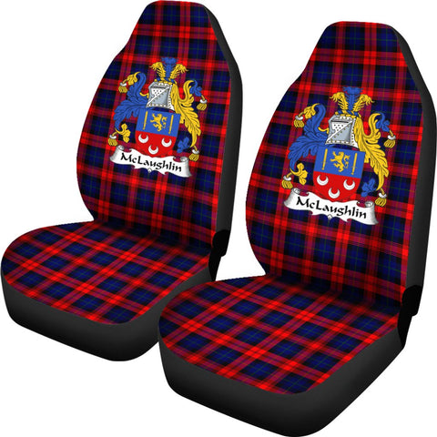 Mclaughlin Tartan Car Seat Covers - Clan Badge