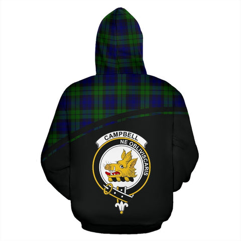 Campbell Tartan Custom Personalised Hoodie - Curve Style Back