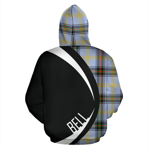 ScottishShop Tartan Zip Up Hoodie - Clan Bell Of The Borders Hoodie - Circle Style