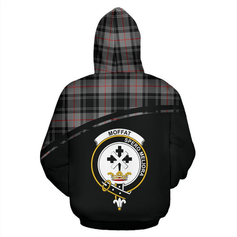 Image of Moffat Tartan Custom Personalised Hoodie - Curve Style Back