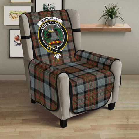 Clan MacLaren Weathered Plaid & Crest Tartan Sofa Protector - 23 Inches