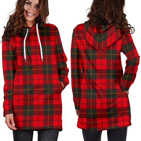 ScottishShop Hoodie Dress - Wallace Weathered Tartan Hooded Dress