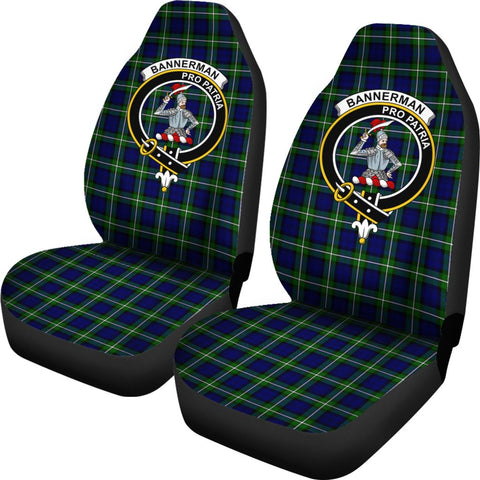 Bannerman Tartan Car Seat Covers Clan Badge