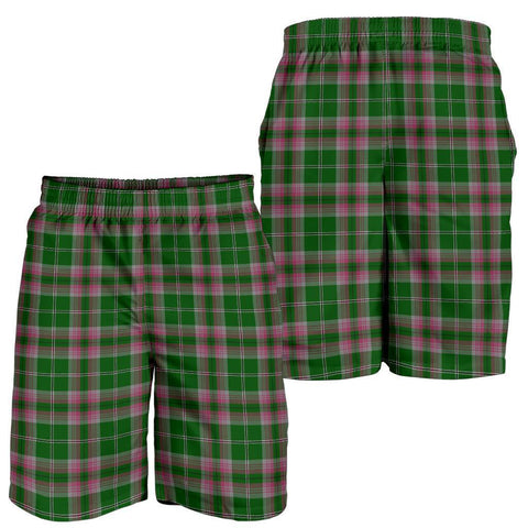 Tartan Mens Shorts - Clan Gray Hunting Plaid Shorts