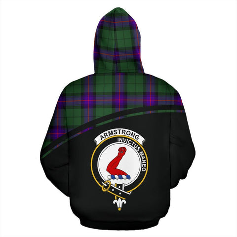 Image of Armstrong Tartan Custom Personalised Hoodie - Curve Style Back