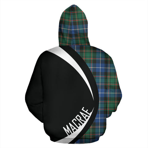 ScottishShop Tartan Zip Up Hoodie - Clan Macrae Hunting Ancient Hoodie - Circle Style