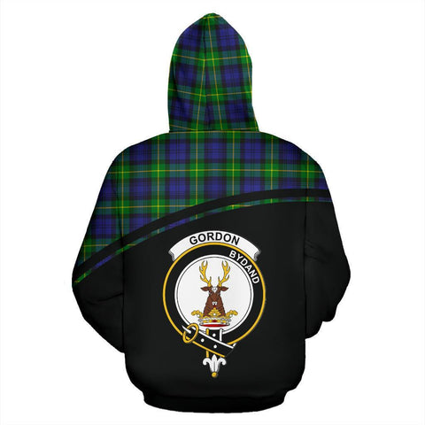 Gordon Tartan Custom Personalised Hoodie - Curve Style Back