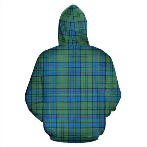 Image of ScottishShop Lockhart Tartan Clan Badge Hoodie