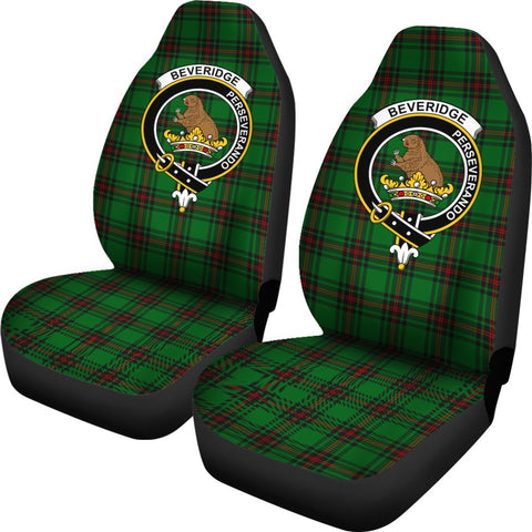 Beveridge Tartan Car Seat Covers Clan Badge