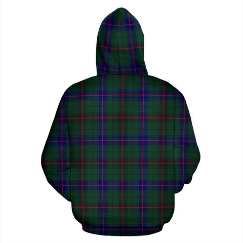 Image of ScottishShop Davidson Tartan Clan Badge Hoodie