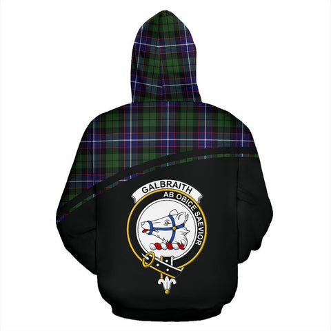 Galbraith Tartan Custom Personalised Hoodie - Curve Style Back
